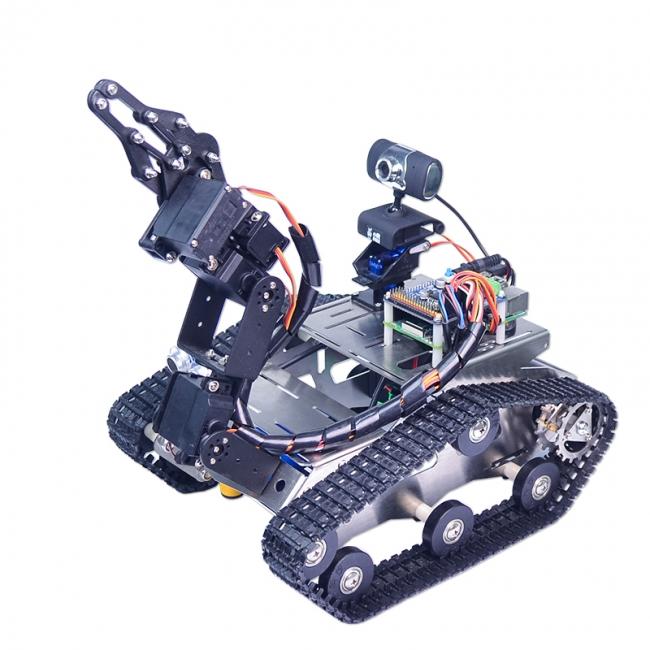 小r科技树莓派3wifi视频智能车履带机械手机器人套件raspberrypi3